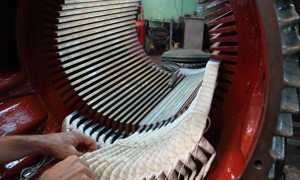 Rebobinado de  rotores y de motores sincrónicos y asincrónicos